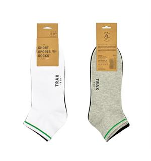 TRAX & CO™ Cotton short socks W/B/G 3pk 36-40