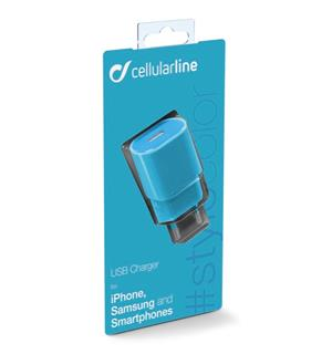 Usb charger 1a Blue