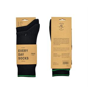 TRAX & CO™ Cotton dress socks Black 2 pk 36-40