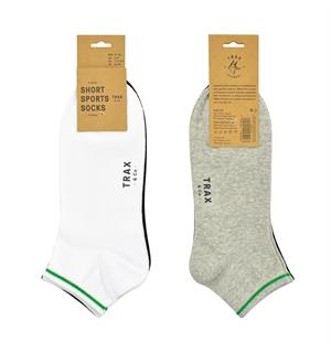 TRAX & CO™ Cotton short socks W/B/G 3pk 41-45