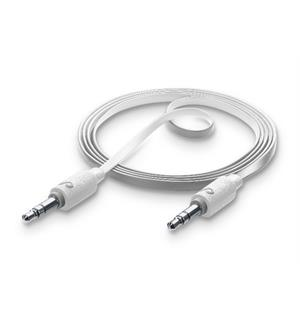 Aux Music, White 1m lydkabel 3,5 mm, hvit