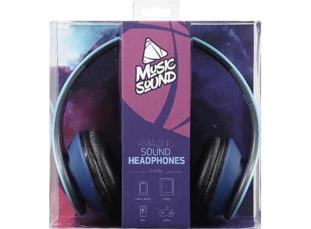 8eb63205 CL Hodetelefon Musicsound, Blå Hi-Fi Stereo hodetelefon uten mikrofon - TT  Micro AS