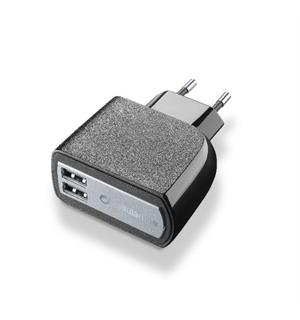 USB Charger Dual Ultra 15W 220 V lader med to uttak