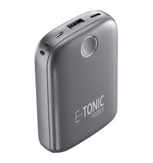 E-tonic powerbank 10.000 mAh, grey Nødlader