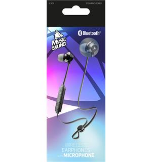 Musicsound BT Earphones, black Øreplugger med blåtann